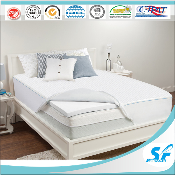 thermal massage bed wholesale cheap quilted down microfibre bed mattress topper mattreaa pad
