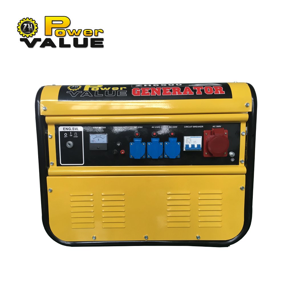 Alternator 5kw 5kva 3 phase gasoline generator 100% copper with battery
