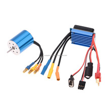 2430 7200KV Sensorless Brushless Motor with 25A Brushless Electric Speed Controller ESC for 1/16 1/18 RC Car Truck