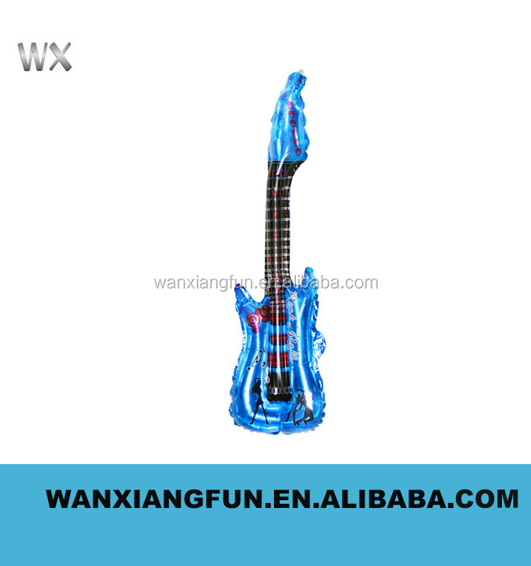 2016 factory price new deaign giant promotion products inflatable guitar with customized logo