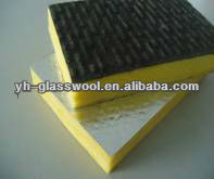 high density fiberglass insulation board aluminium foil/glass wool