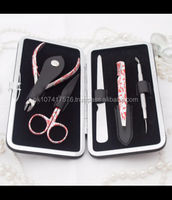 5 pieces Beauty Manicure instruments / Girls travel beauty kit