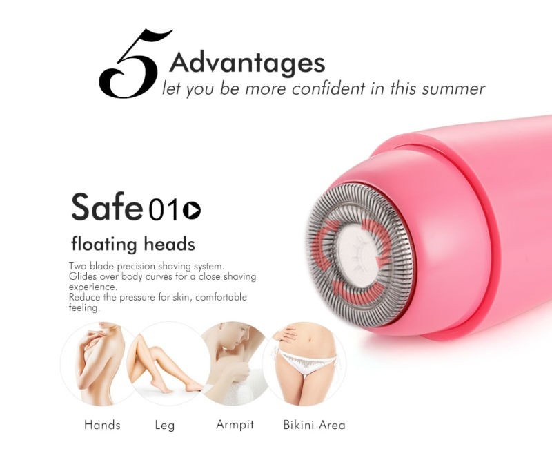 TOUCHBeauty hot battery operated mini and portable electric women shaver/lady shaver/trimmer/grooming/Hair remover