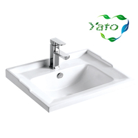 Ceramic design bathroom sanitary wares/lavatory bowl/installing bathroom basin YB-695 YATO