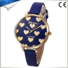 Wholesale Hot Dot Gold Geneva Ladies Watches Thin Leather Cute Quartz Wrist Watch Women Dress Men Women Bracelet Watches GW106
