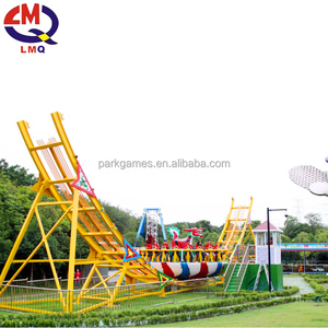 Amusement Park Equipment Fibreglass Mega Disk'o/ Flying UFO Thrill Ride For Sale