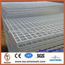 High tensile hot-dipped galvanized serrated steel bar grating for car washing station