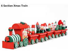 Christams gifts more sections wooden small train toys for kids