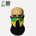 Yellow Spiderman Sound Activated el panel Mask for DJ, Edc, Ultra, Music Festival, Concerts, Club, Costume, Cosplay, Dance