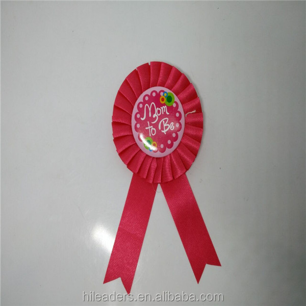 Hot Sale Round Ribbon Rosette Badge Rosette