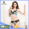 Top Grade Cute Hot Girl Flower Print Bra And Underwear Sets