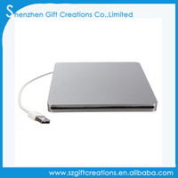 Super Slim External USB 2.0 Slot-in DVD RW Enclosure Case 9.5mm/12.7mm SATA Superdrive Optical Drive
