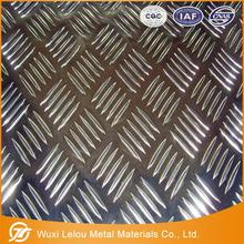 Mirror five bars embossed aluminum sheet/coil for tread plate