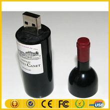 Hot sale ABS usb flash drives 4GB in the shape of the bottle