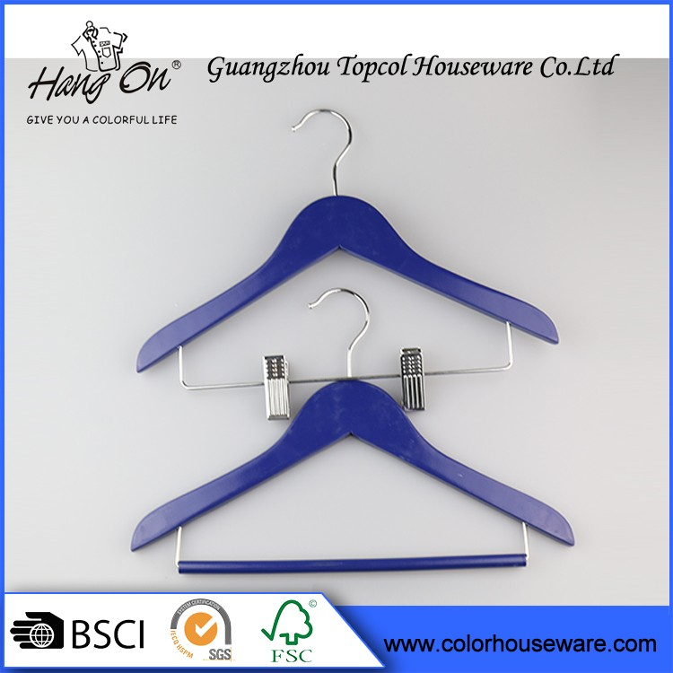 High quality wholesales wooden suit Clothes And Pant Wooden Hanger