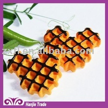 Kawaii 26mm sweet waffle mice resin hair cabochons for children's decorations