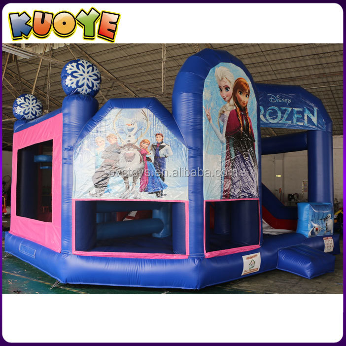 Commercial grade jumping bouncy castles,inflatable frozen bounce house with slide