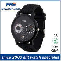 compass wrist watch mens silicone sports watches with compass machine