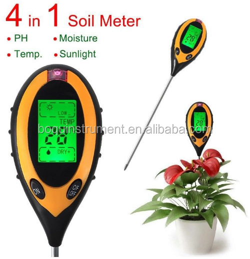 digital ph soil meter 4 in1 ?BQ-300 Soil Tester Moisture Light PH Meter