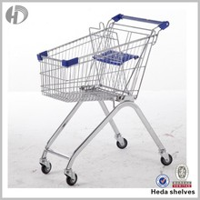 mobile food metal wire basket carts with 4 wheels from China food cart designer