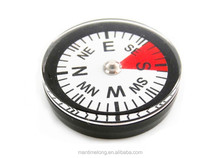 mini white 30mm compass rotary style compass with liquid