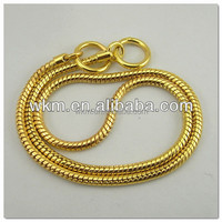 new gold chain design dog collar chain double
