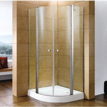 6mm tempered glass square cheap two swing shower doors enclosures
