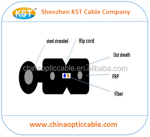 2 Core G657A2 FTTH Outdoor Drop Fiber Optic Cable Factory Price Per Meter