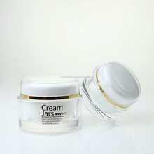 China Cosmetic Cream Jar Acrylic Oval Acrylic Cosmetic Oval Jar