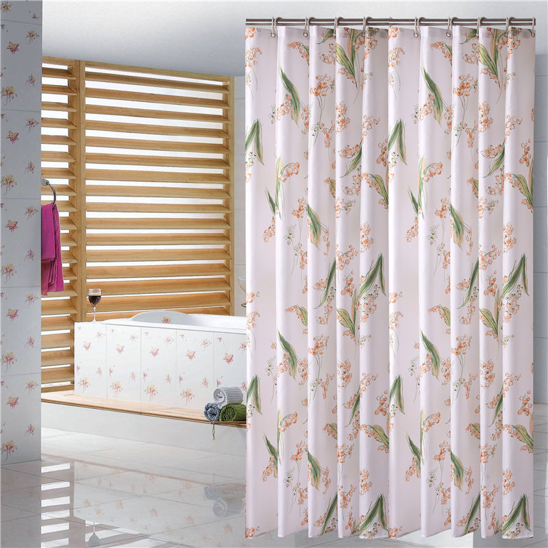 European Shower Curtain Pattern Flower Print Bath Screens Polyester Waterproof Shower Curtain YouTube Curtains In The Bathroom