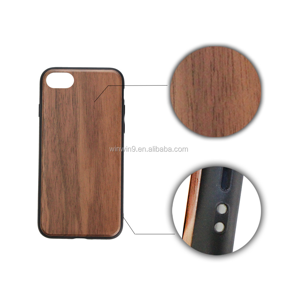 Mobile Phone Accessories Custom Design Black Engraving Wood Phone Case for iPhone 5s