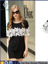2016 New Design Summer Fashion Women Short Sleeve White Embroidered Neck Gypsy Top Quality Assured