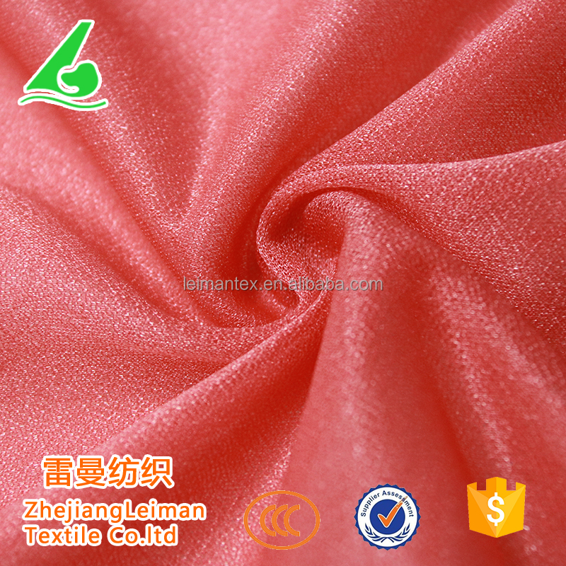 Wholesale products diamond silk 100% polyester dress fabric