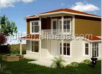 certificated prefabricated light steel frame villa building in china