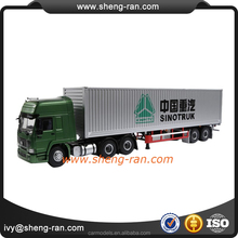 1 50 container truck model,double trailer model truck