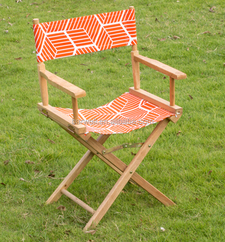 Foldable Wooden director chair with seat replacement