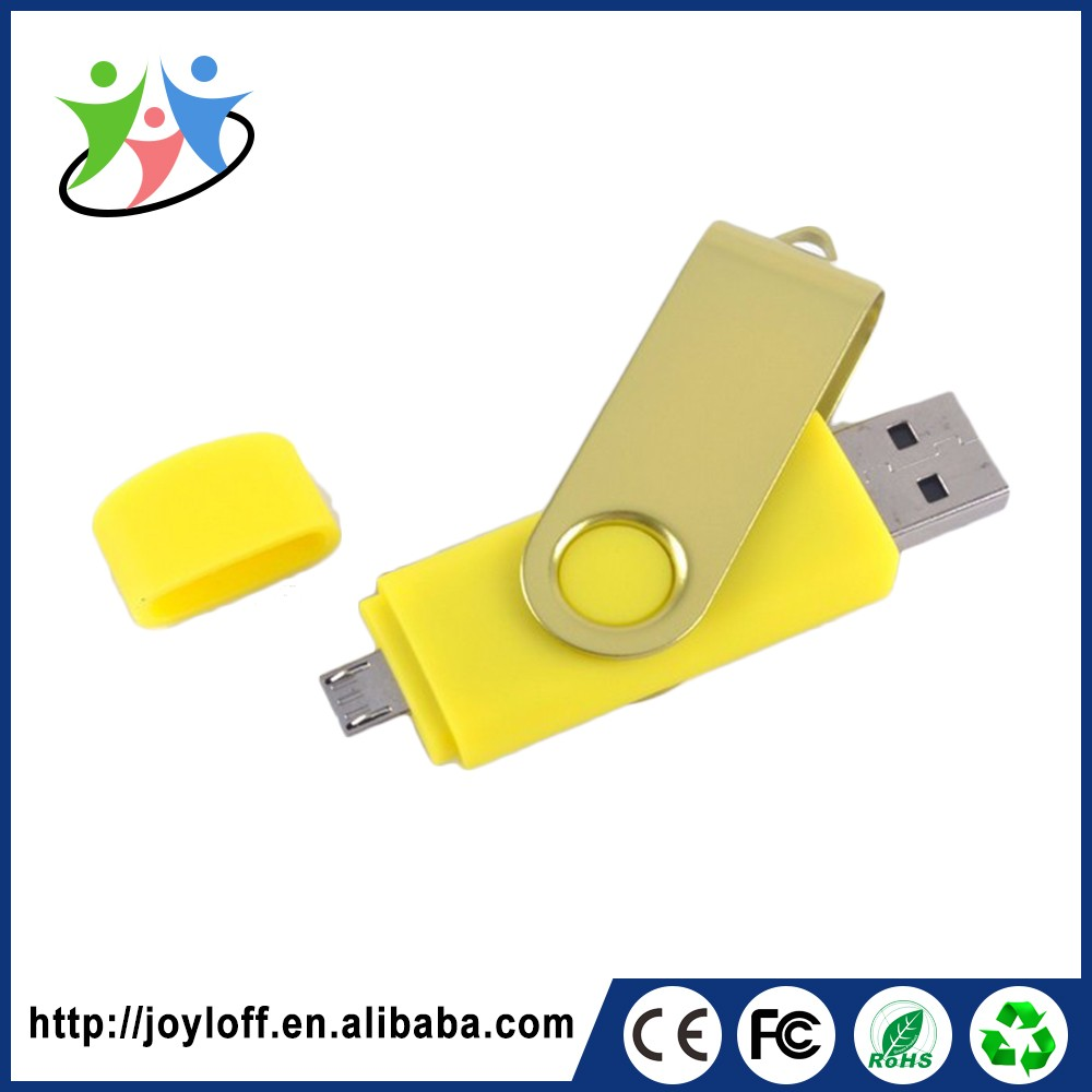 Dual Double Plug Interface Otg Mobile Phone Pc Usb 2.0 Large Quantity Factory Usb Flash Drive