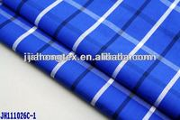 100 cotton fabric cheapest blue check yarn dyed fabric for shirt