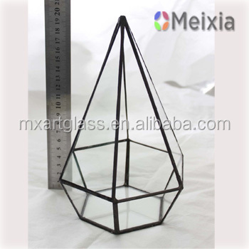 MF130042 Glass Terrarium Plant Holder for home decro