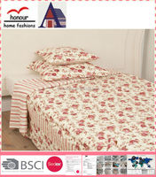 Beautiful ethnic red rose fitted bedspreads with best price