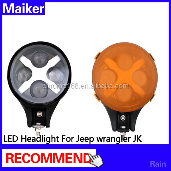 LED headlight for jeep wrangler jk Auto Lighting System headlight LED headlamp