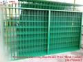 Factory direct wholasale PVC-coated wire mesh fence panels with 20*30*1.0mm frame ZX-HLW01