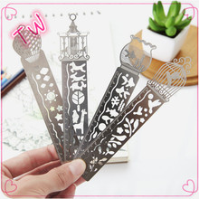 Latest china new innovative fancy stationery product wholesale birdcage design metal ruler ,stainless ruler cheap sale