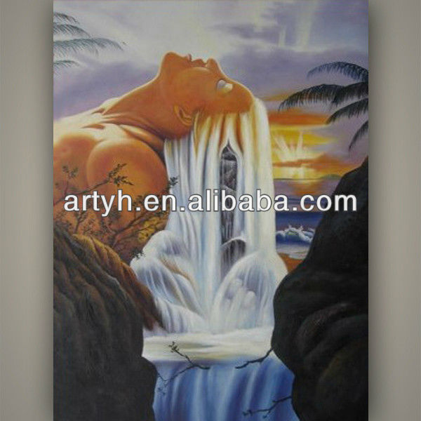 Best price waterfall landscape oil painting