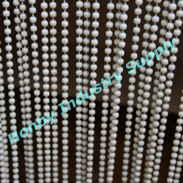 Elegant 6mm white enamel beaded curtain door screen