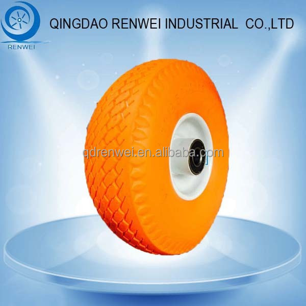 10 inch Solid Rubber Wheel with Steel Rim/Pu Foam Wheel & Flat Free Tire for Wagons