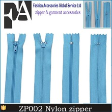 factory reasonable price 3 plastic invisible open zipper reversible zipper
