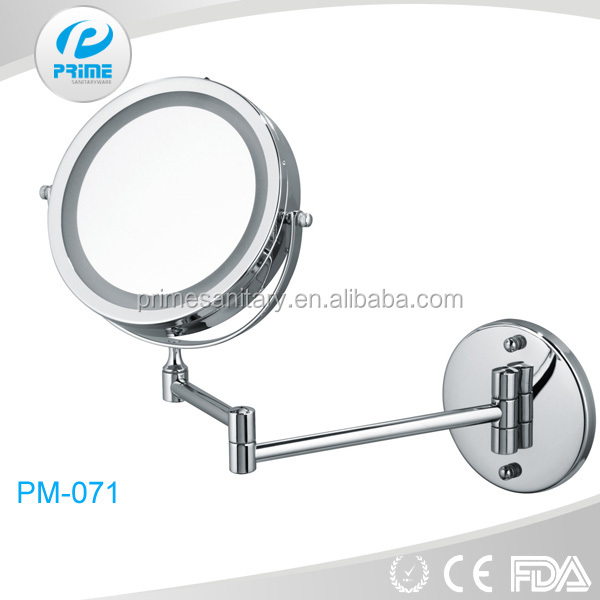 Professional wall mounted lighted makeup mirror