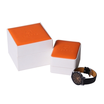 Custom made white color elegant his and hers couple watch box