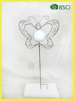 YS13074 metal butterfly stick solar garden lighting